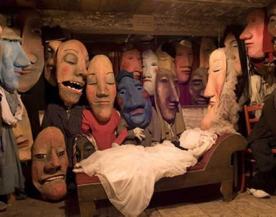 Puppets Death Bed. From the Bread and Puppet Theater
